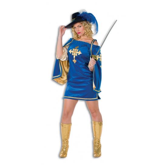 Fluwelen musketiers jurk voor vrouwen