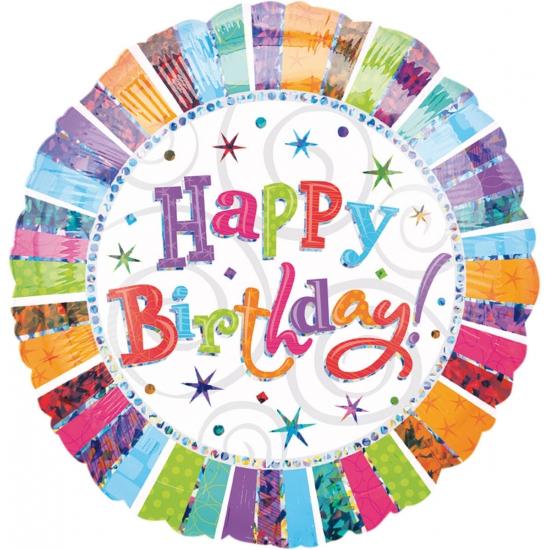 Folie ballonnen Birthday gekleurd
