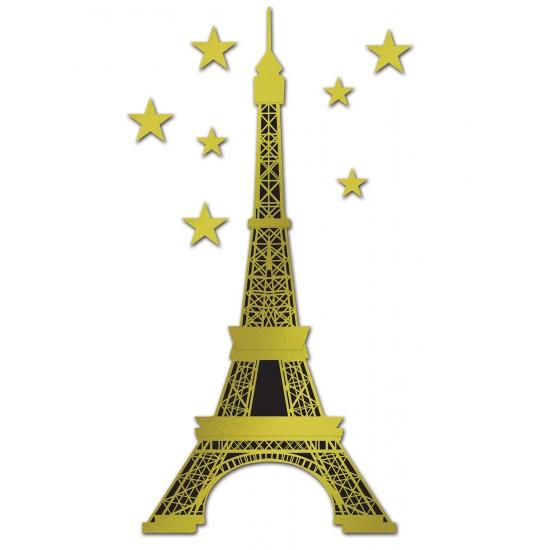 Folie Eiffeltoren goud 150 cm