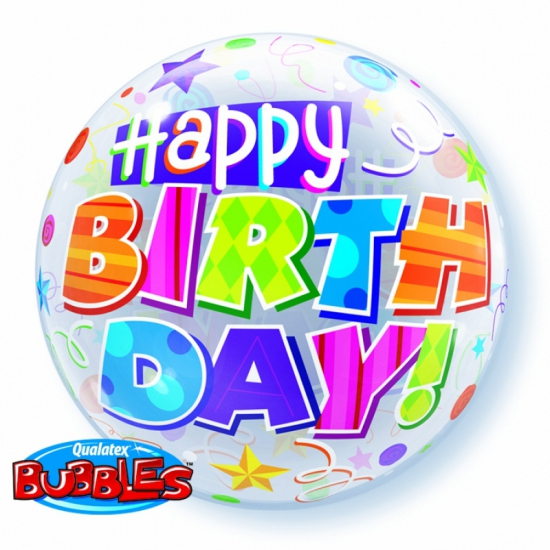 Folieballon helium Happy Birthday