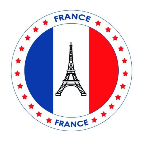 Frankrijk vlag print bierviltjes