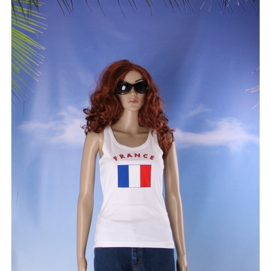 Franse vlag tanktop   singlet voor dames