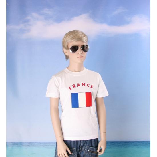 Franse vlaggen t shirts voor kinderen