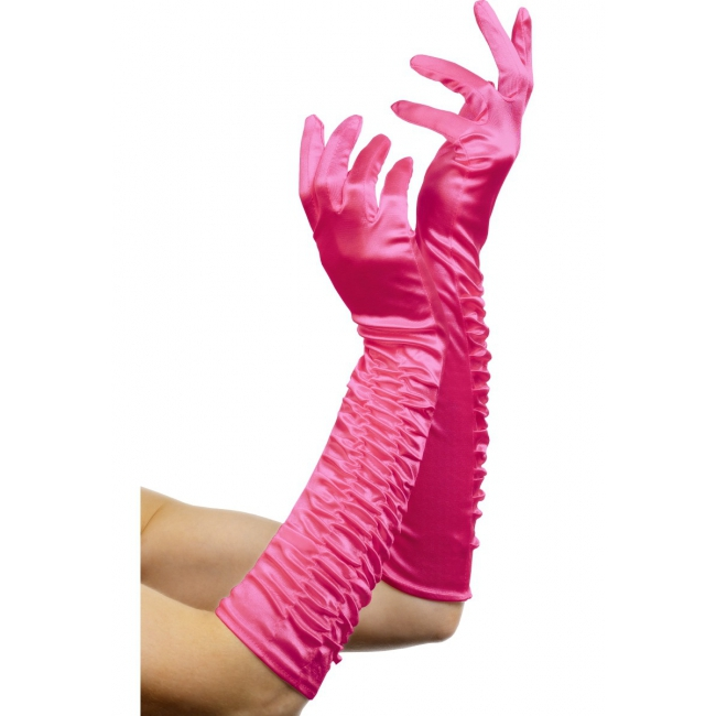Fuchsia lange handschoenen
