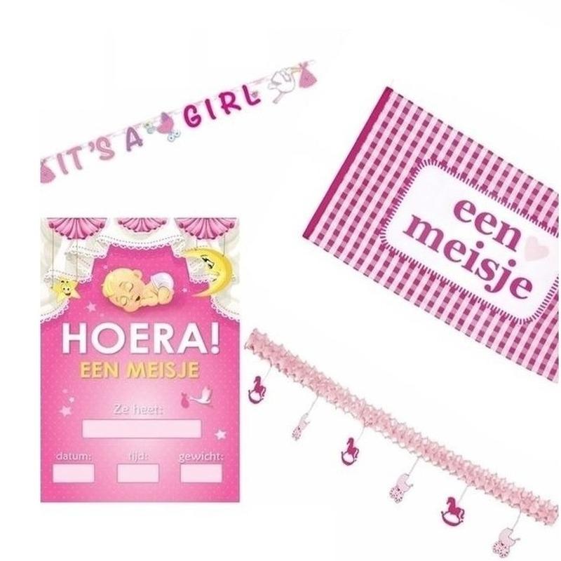Geboorte feestartikeeln pakket meisje