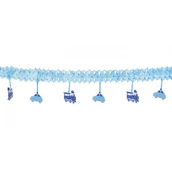 Geboorte slingers jongen van papier