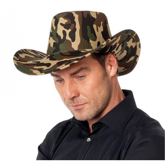 Gecamoufleerde cowboy hoed