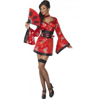 Geisha jurk met shotglaasjes riem