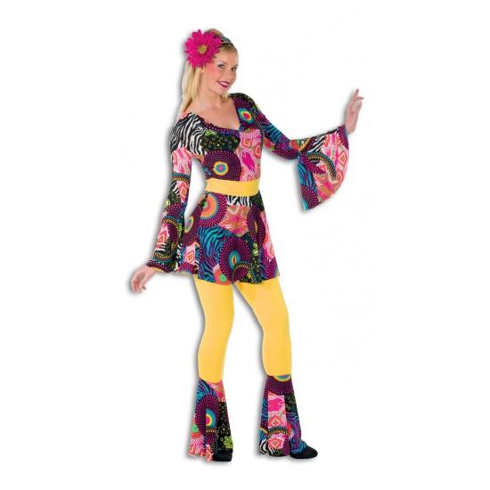 Gekleurd disco outfit voor dames