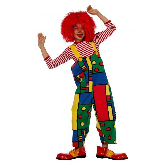 Gekleurde clown kinder tuinbroek