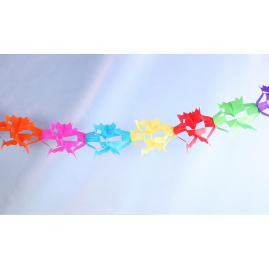 Gekleurde driehoek slinger van papier 6 meter
