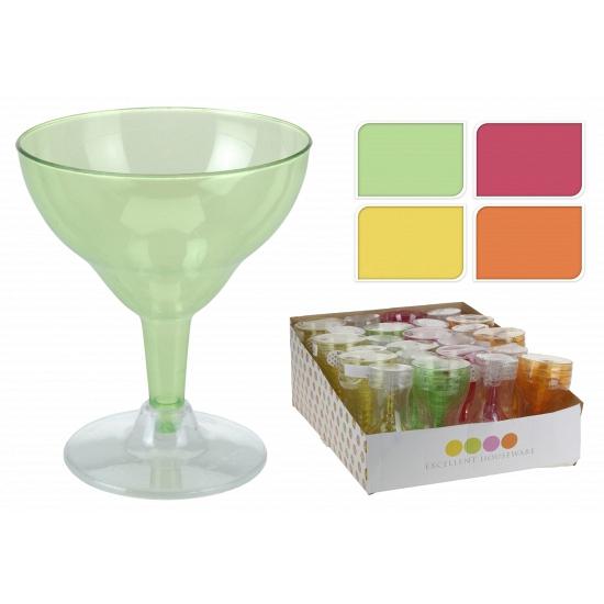 Gekleurde ijs glazen van plastic