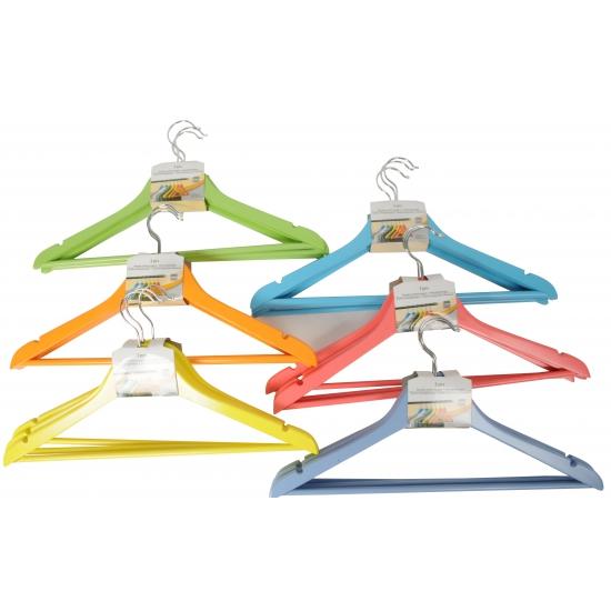Gekleurde kleding hangers 3 stuks