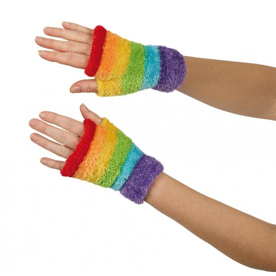 Gekleurde regenboog handschoenen
