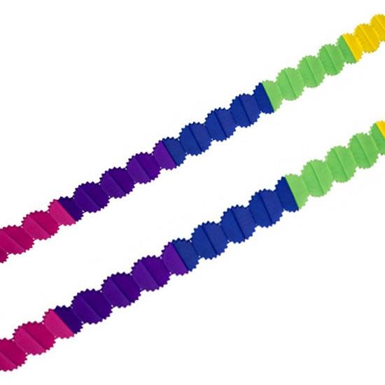Gekleurde slingers van papier 6 meter