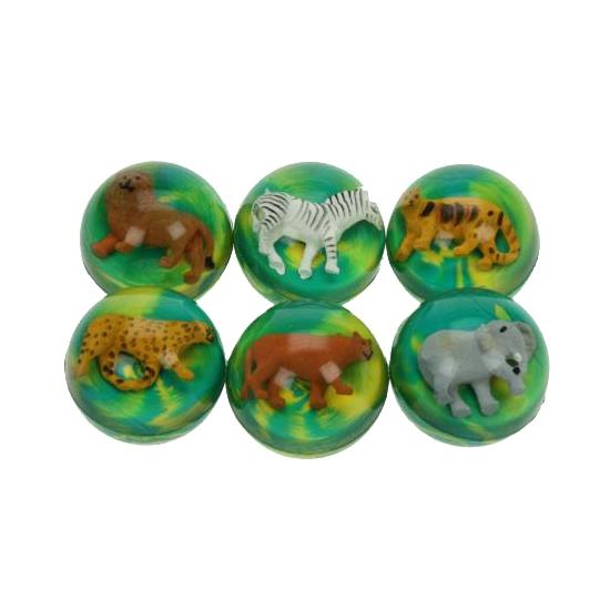 Gekleurde stuiterbal met tijger
