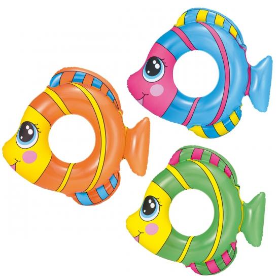 Gekleurde vis zwemband 81 x 76 cm