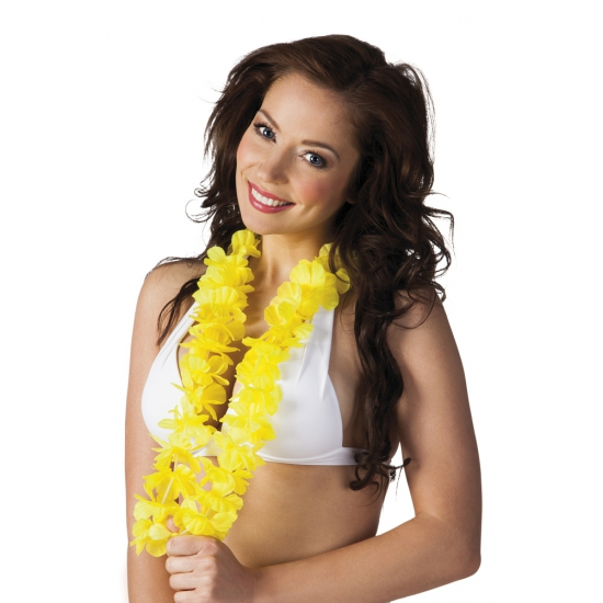 Gele hawaii slinger