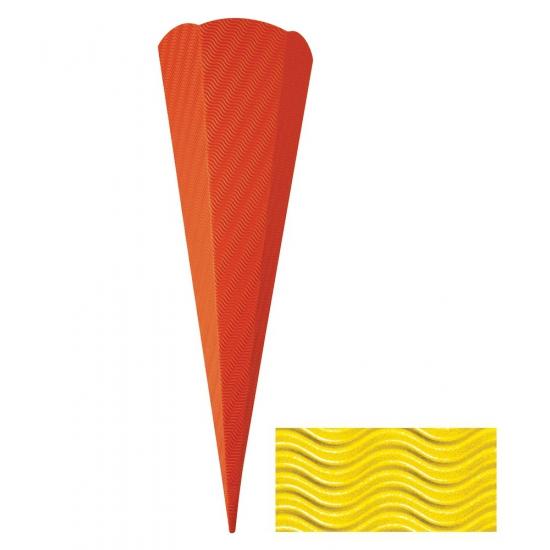 Gele schoolzak van golfkarton 68 cm