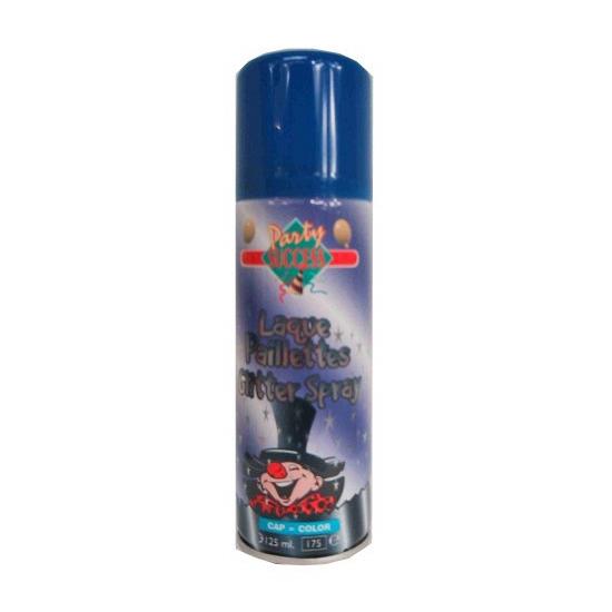Glitter hairspray blauw