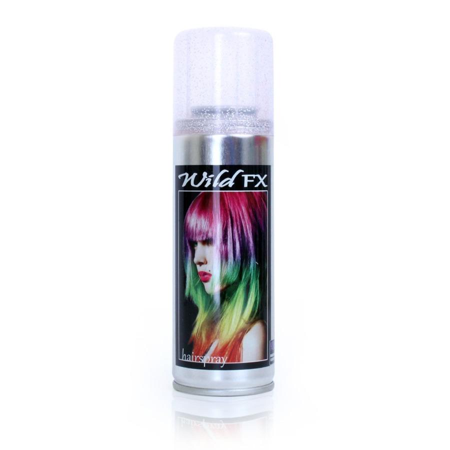 Glitter hairspray zilver