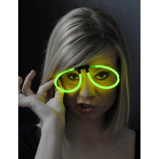 Glow bril neon groen