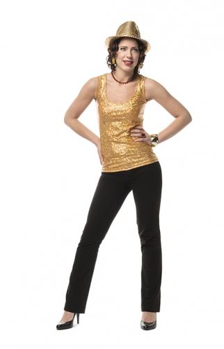 Goud holografisch shirt voor dames