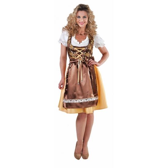 Goud Tiroler jurkje met edelweiss knopen