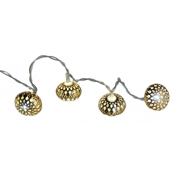 Gouden ballen met verlichting