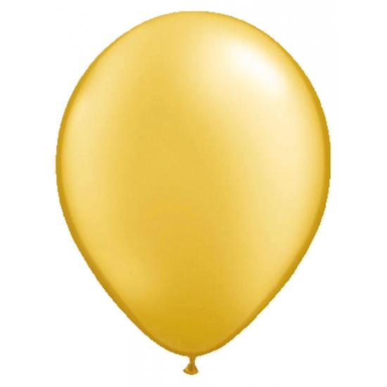 Gouden metallic ballonnen 50 stuks