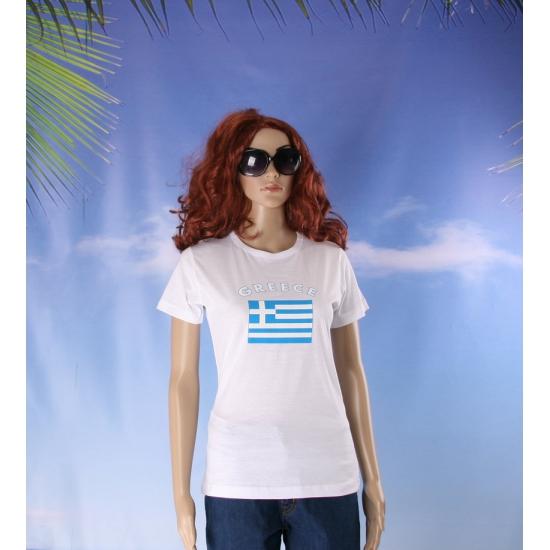 Griekse vlaggen t shirt voor dames