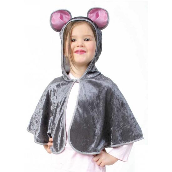 Grijze muis poncho voor peuters