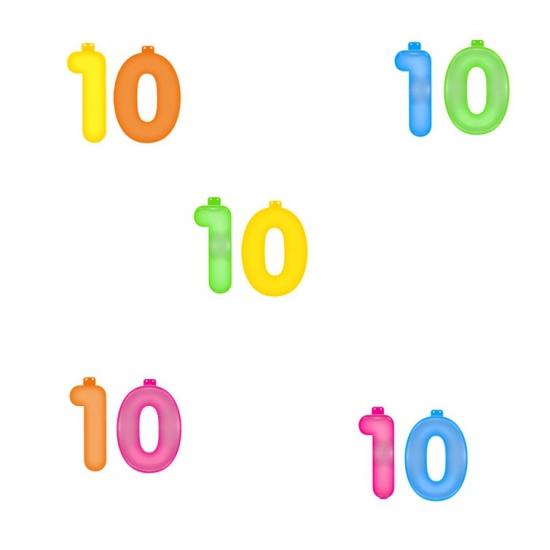 Groen opblaascijfer 10