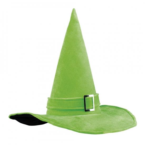 Groene heksenhoed met gesp
