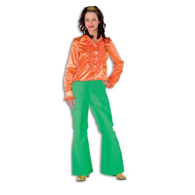 Groene seventies broek voor dames