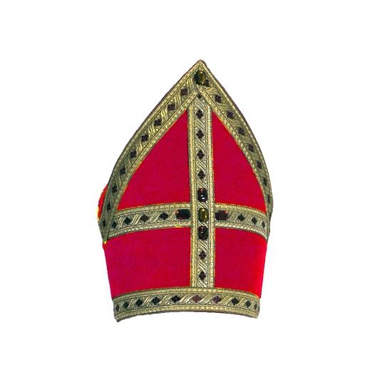 Grote hoed maat Sinterklaas mijter voor volwassenen