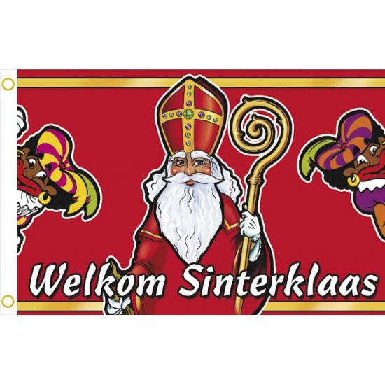 Grote vlag welkom Sinterklaas