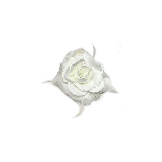 Haar accessoire witte bloem