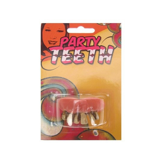 Halloween nep gebit met rotte tanden