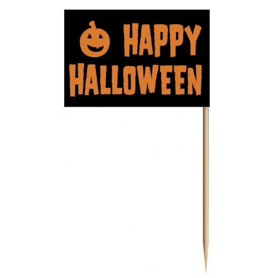 Halloween thema cocktailprikkers 50 stuks
