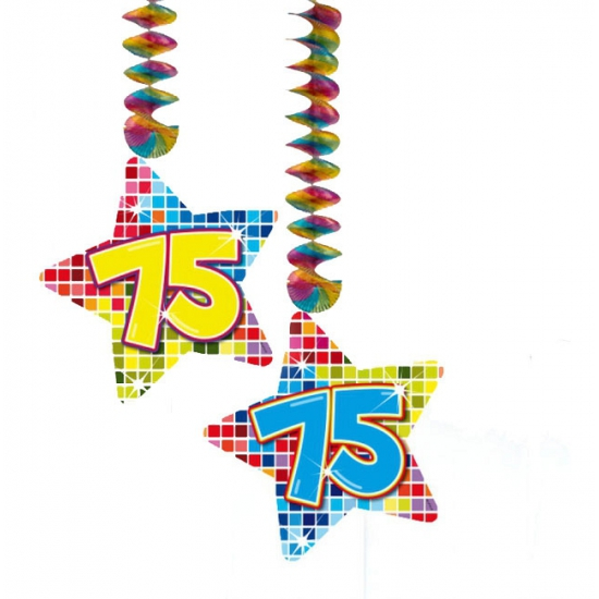 Hangdecoratie verjaardag 75 jaar