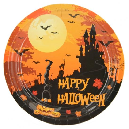 Happy Halloween wegwerp borden