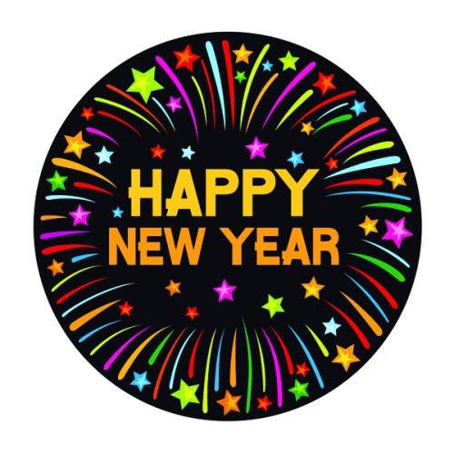 Happy new year  print bierviltjes