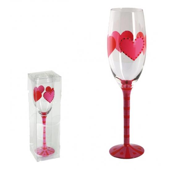 Hartjes champagneglas