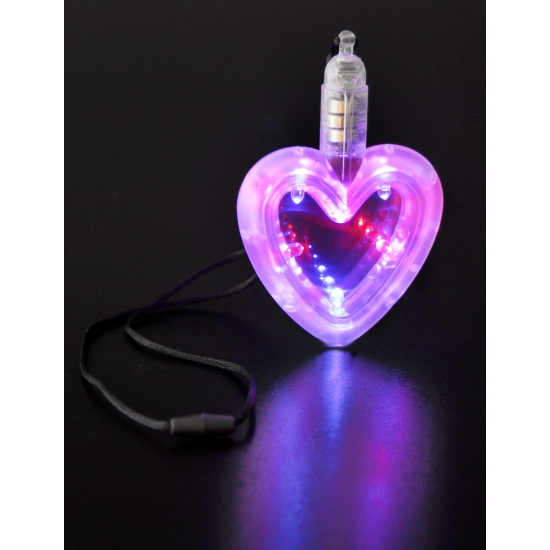 Hartjes ketting met LED licht