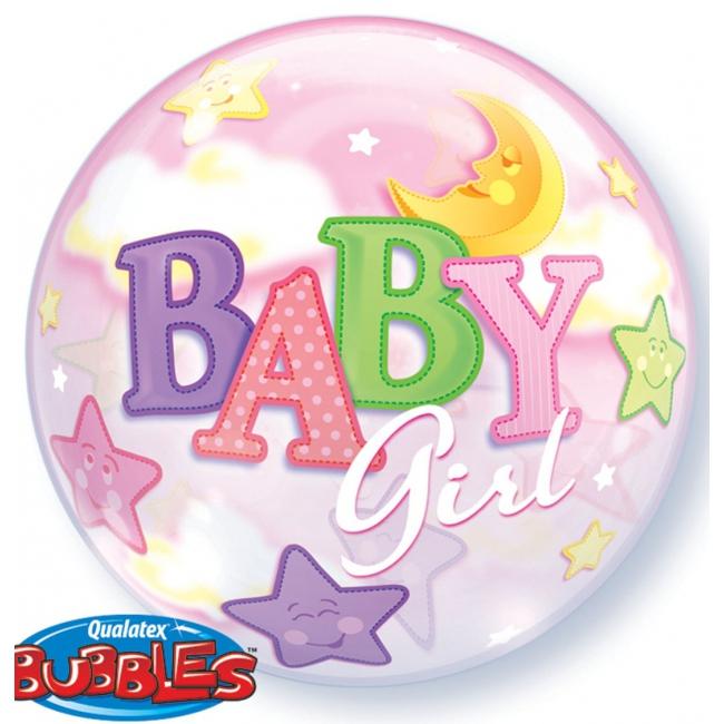 Helium ballon geboorte van een meisjes