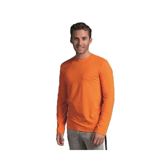 Heren shirt oranje long sleeve