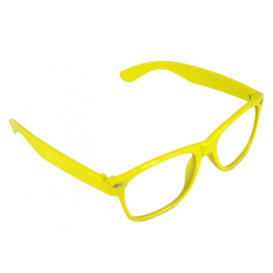 Hippe partybril geel