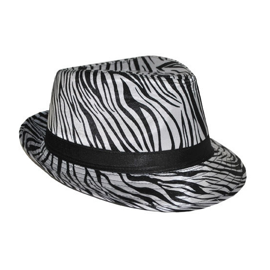 Hoed met zebra print