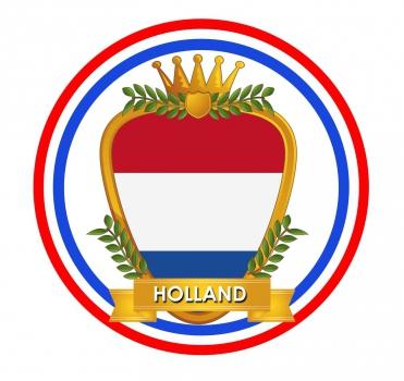 Hollands wapen print bierviltjes